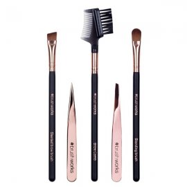 Brushworks HD Luxury Brow Set - Rose Gold