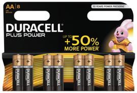 Duracell Plus Power AA Batterier (LR06) 8-Pack