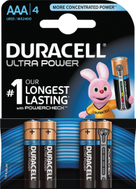 Duracell Ultra Power AAA Batterier (LR03) 4-Pack