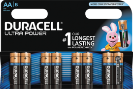 Duracell Ultra Power AA Batterier (LR06) 8-Pack