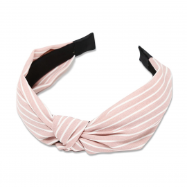 Everneed Kara Diadem Light Pink Stripes With Knot