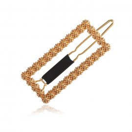 Isa Gold Hairclip Rectangle